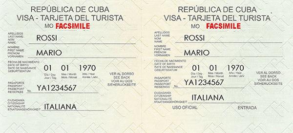 Visto Cuba - Ufficio Visti